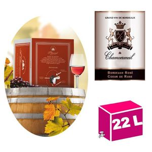 VIN ROSÉ CUBI 22L AOC Bordeaux rosé 2018 Chamvermeil Cœur d