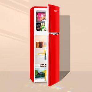 RÉFRIGÉRATEUR CLASSIQUE Klarstein Monroe XL Red Combiné Réfrigérateur & co