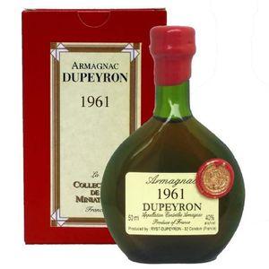 DIGESTIF EAU DE VIE Armagnac Dupeyron millésime 1961 Armagnac 5 cl -