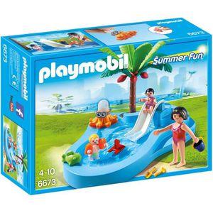 UNIVERS MINIATURE PLAYMOBIL 6673 Bassin pour bébés et mini-toboggan