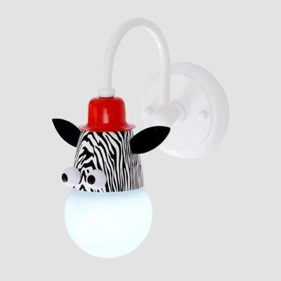 Applique Lampe Murale d'Enfant Chambre Bébé avec Animal de Cartoon - Mignon  Zèbre - Mur de Feu Moderne Décoration Maison