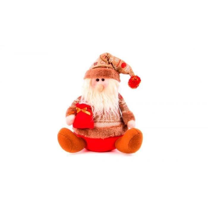 Personnage de Noël : Père Noël en tissu 28 cm