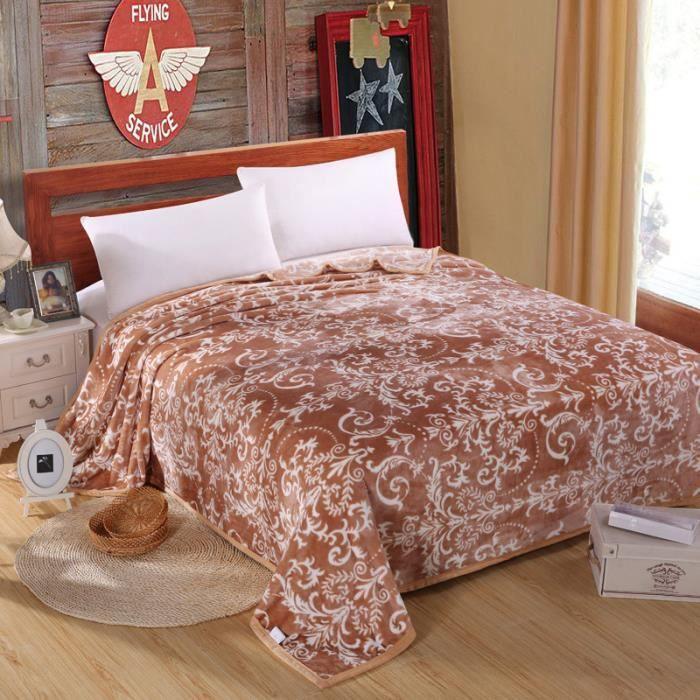 couvre lit velours marron Couverture de lit polaire velours 200 x 230 cm marron   Achat  couvre lit velours marron