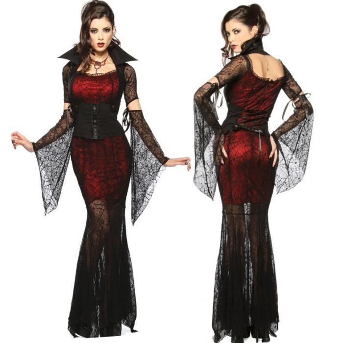 d guisement femme vampire halloween robe party queen achat vente d guisement panoplie. Black Bedroom Furniture Sets. Home Design Ideas