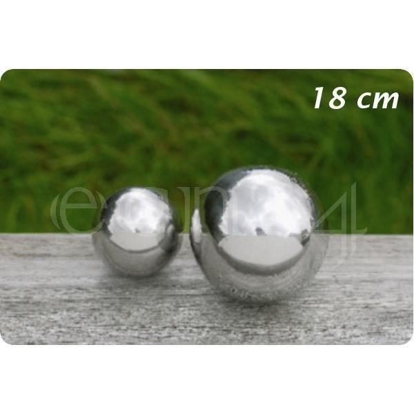 Boule de d coration inox pour jardin ou tang 18 cm achat vente objet d coratif inox - Boule decorative pour jardin ...