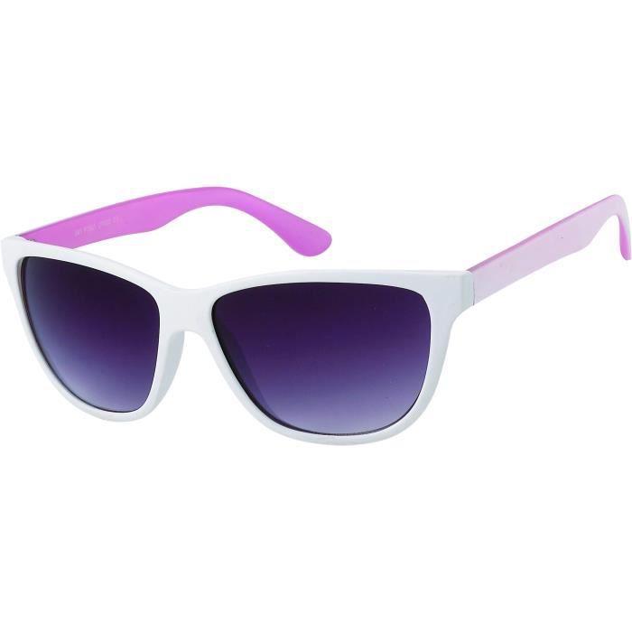 3ed9848687 Lunette love lunettes de soleil vintage femme 9263 monture blanche  intérieur rose, verres gris