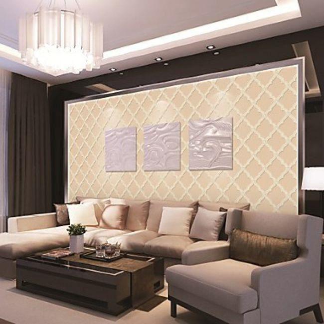 Papier peint moderne pour décoration intérieure à motif damassé ...