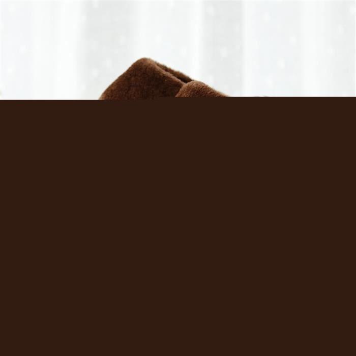 CUSSELEN Chaussons Homme Hiver Coton Rétro Simple Chausson Beau Doux Qualité résistantes à l'usureAdulte