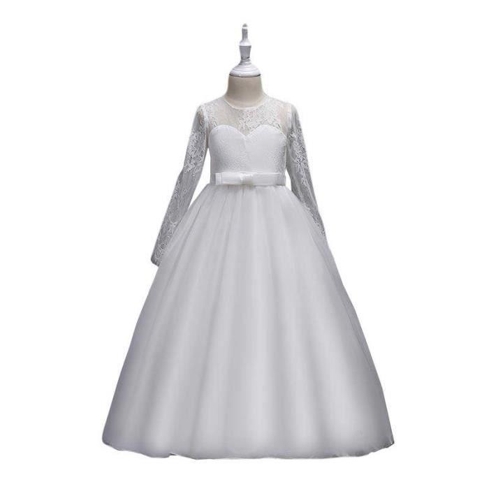 5a50a8e7b1a41 Robe Fille Cérémonie-Mariage Jupe Princesse Robe Fille de Soirée Fille Robe  Demoiselle de Honneur Fille 4-14 ANS