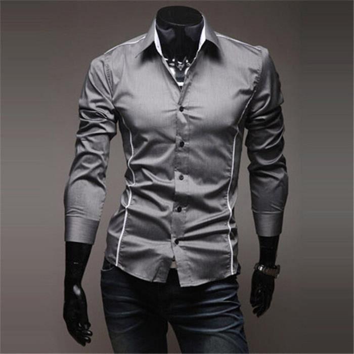 Luxe Hommes Homme Mode Chemise Marque Grande Nouvelle Vetement Upqszmv VMpqSUzG