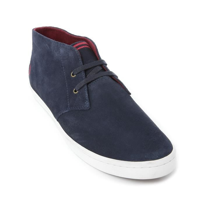 Sneakers Byron Mid Suede Bleu Marine pour homme