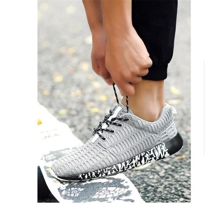 Chaussures de course Homme personnalité Haut qualité Chaussures de sport hommes Antidérapant résistantes à l'usure Basket Mode