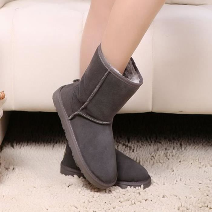 Shoes Short Fashion Snow Boots Mid Calf CM0FA Taille-44 1-2 XNrkofcB