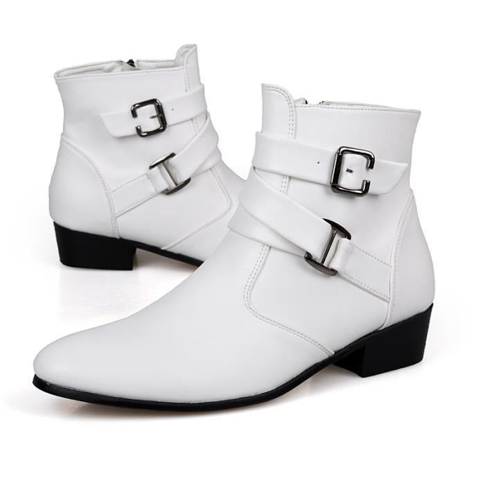 Chaussures homme Bottes courtes Bottes en cuir Chaussures étanches Bottes mode Chaussures de ville Chaussures montantes Chaussures
