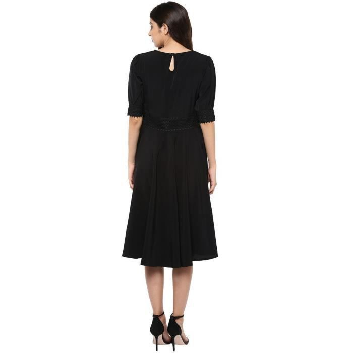 Womens Crepe A-line Dress FH8HN Taille-34