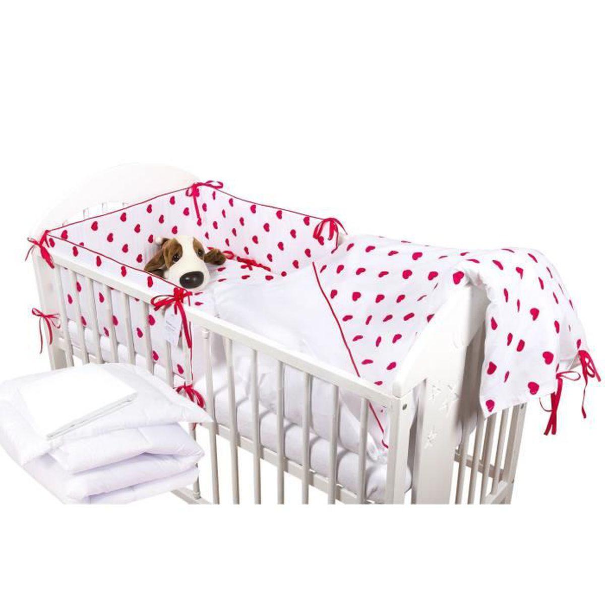 awesome tour de lit bebe rouge et blanc images. Black Bedroom Furniture Sets. Home Design Ideas