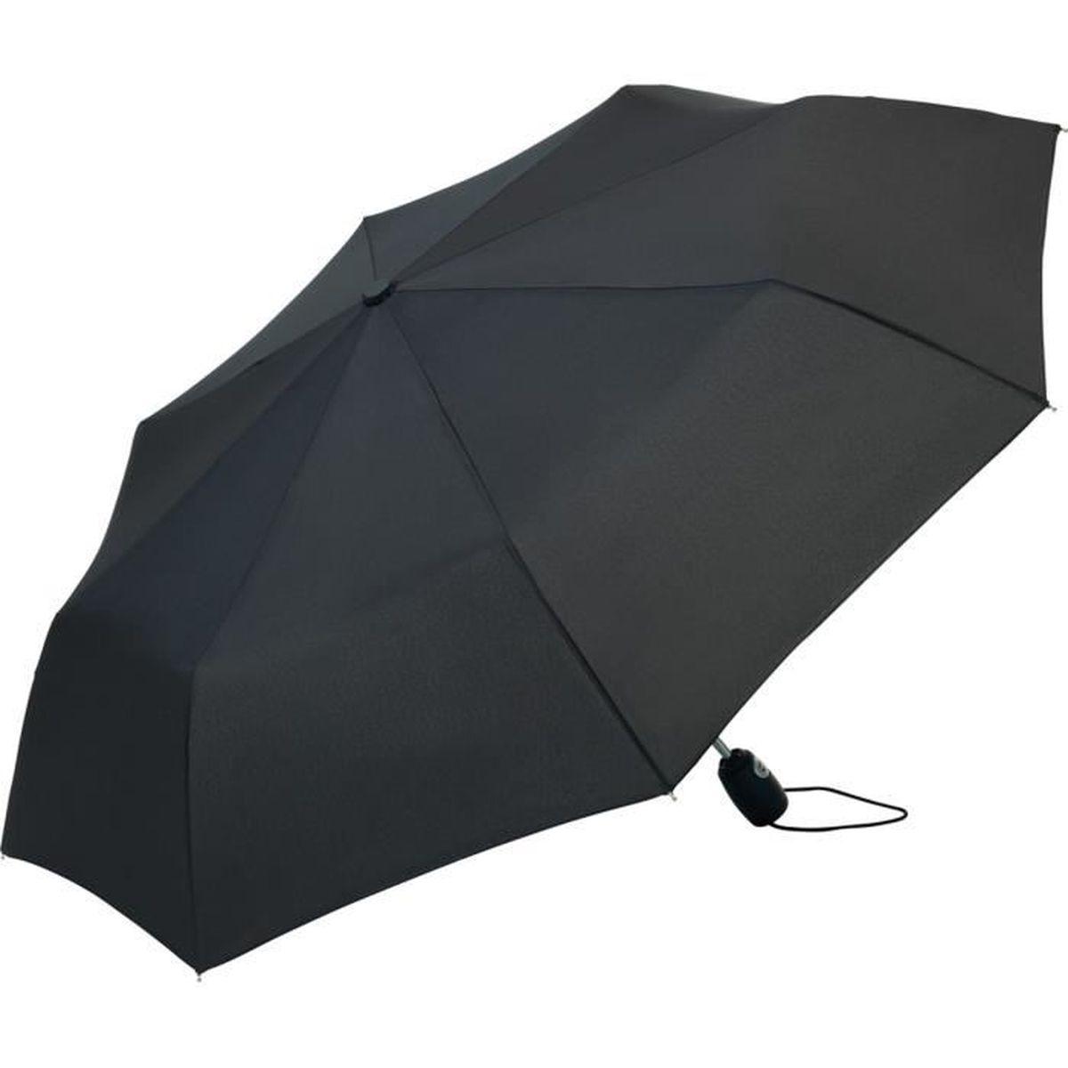 parapluie pliant compact ouverture automatique 5460 noir achat vente parapluie. Black Bedroom Furniture Sets. Home Design Ideas