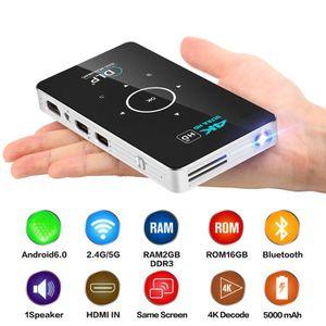 Téléviseur LED Portable Smart Mini projecteur 4K support 1080P HD