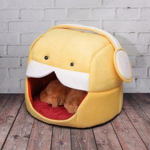 Nouvelle pliable maison animaux lit chien chat doux kennel mat pad chaud panier coussin chiot - Maison pliable ...