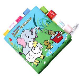 JOUET JOUET Bébé animaux Puzzle Beau livre en tissu Joue