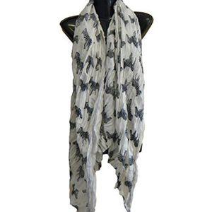 e1558735964 ECHARPE - FOULARD S407 -Magnifique blanc motif zèbre écharpe imprimé