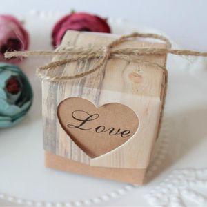 BOÎTE À DRAGÉES WTX70405484 50pcs mariage Favor Faveur doux gâteau