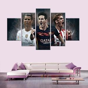 TABLEAU - TOILE Barcelone Real Madrid Atletico Madrid 5 Pièce Mode
