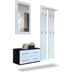 vestiaire meuble d entree achat vente vestiaire meuble d entree pas cher cdiscount. Black Bedroom Furniture Sets. Home Design Ideas