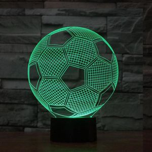 LAMPE A POSER LED Chambre Creative Décoration 3D Football Night