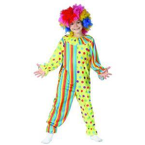 Freddy le Clown Enfants Costume Neuf-Fille Carnaval Déguisement Costume Vêtements, accessoires