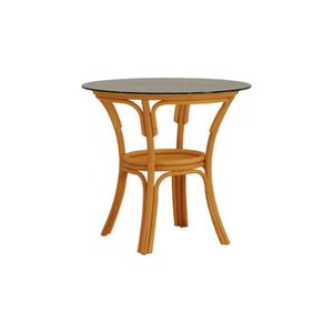 Table rotin achat vente table rotin pas cher cdiscount for Table rotin plateau verre