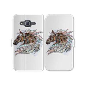 SMARTPHONE RV Housse cuir portefeuille Samsung Galaxy J3 (201