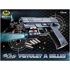 PISTOLET BILLE MOUSSE Pistolet Billes 15 CM Lampe lumiere bleu