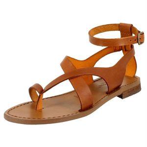 Sandales   nu pieds 584 femme antichi romani 584 Marron Marron ... 7bedeafc3292