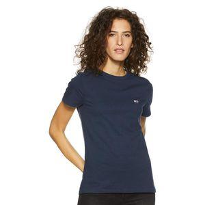 3cb597bf TOMMY HILFIGER Plaine Slim Fit T-shirt de la femme GKQCZ Taille-36 ...