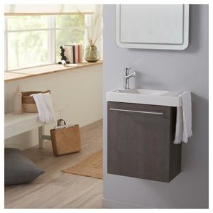 LAVE-MAIN Pack lave mains Sandy grey avec lave mains porte s