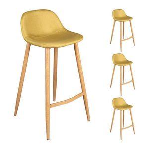 tabouret de bar jaune achat vente pas cher cdiscount. Black Bedroom Furniture Sets. Home Design Ideas
