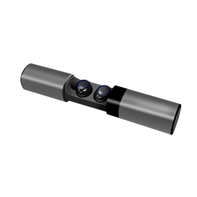 Paire Ecouteurs Bluetooth Sans Fil Tws Ecouteur Intra Auriculaire Magnétique Charge Gris