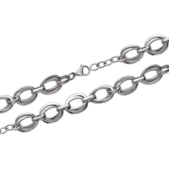 Mailles Doubles Vanda Bracelet Grosses Achat Acier Femme Ligne Rj5LA34