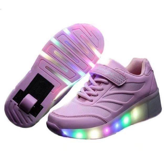 Chaussures de sport pour enfants LED Nouvelle mode Unique Tour Design Superstar Lighting Chaussures pour hommes et femmes