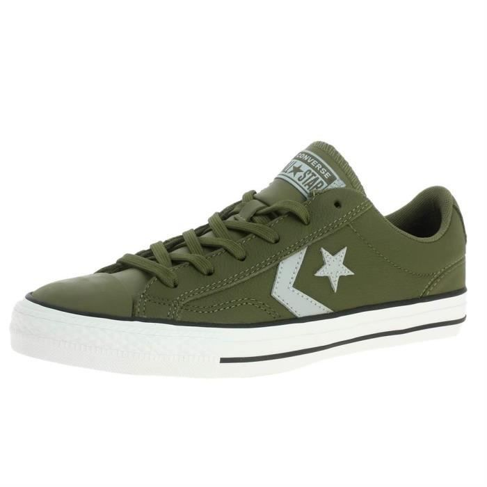 45753a9b94f Baskets mode star palyer homme converse one star ox h 18 Vert Olive ...