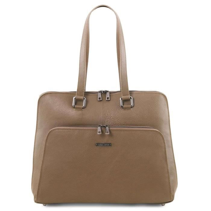Tuscany Leather - Cartables en cuir - Lucca - Taupe foncé (TL141630)