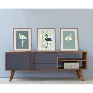 cadre flamant rose achat vente cadre flamant rose pas cher soldes d s le 10 janvier cdiscount. Black Bedroom Furniture Sets. Home Design Ideas