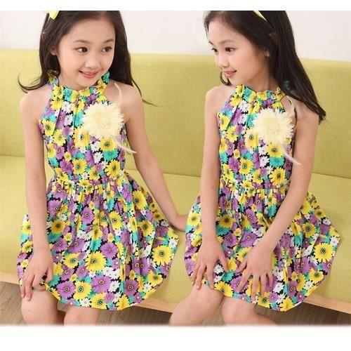 Mode pour enfants Robe florale Multicolor TU