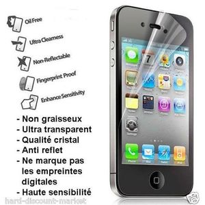 FILM PROTECT. TÉLÉPHONE LOT DE 5 films de protection écran pour iphone 4 -