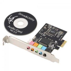 CARTE D'ACQUISITION   Pci Express Pci-E X1 5.1ch Cmi8738 Chipset Audio