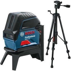 COURANT PORTEUR - CPL Bosch – laser ligne point 15m + Trépied BT 150 1/4