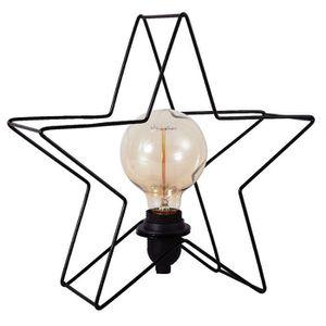LAMPE A POSER ESTRELLA Lampe à poser étoile métal 32 cm noir