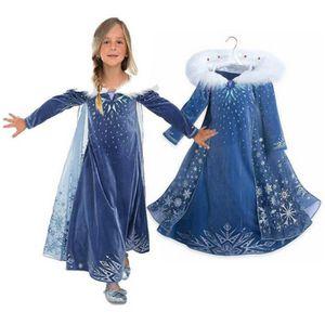 84b7bbc654f8e DÉGUISEMENT - PANOPLIE Disney Frozen robe Hiver Fille Princesse Anna Elsa  ...
