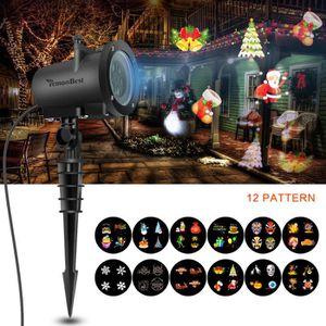 PROJECTEUR EXTÉRIEUR 8W Noël Projecteur LED blanche pelouse lumière ave